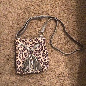 Handbags - Leopard Print Cross Body Bag